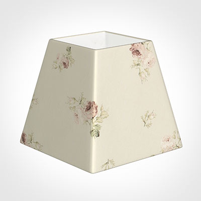 30cm Sloped Square Shade in Antique Rosanna