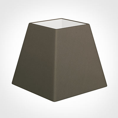 30cm Sloped Square Shade in Bark Satin
