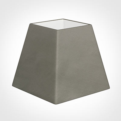 30cm Sloped Square Shade in Pewter Satin