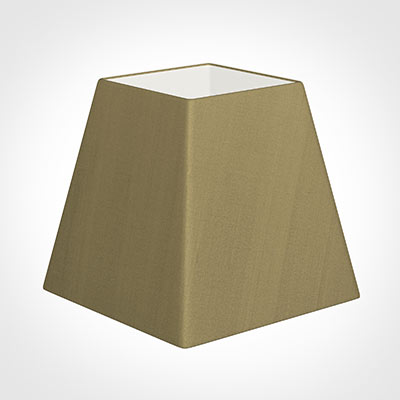 40cm Sloped Square Shade in Dull Gold Faux Silk