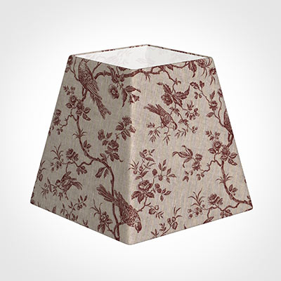 40cm Sloped Square Shade in Red Isabelle
