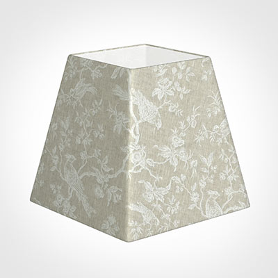 40cm Sloped Square Shade in White Isabelle