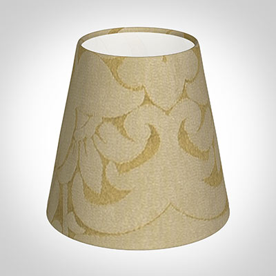 Tapered Candle Shade in Gold Chatsworth