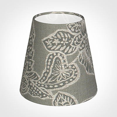 Tapered Candle Shade in Grey Cheveley