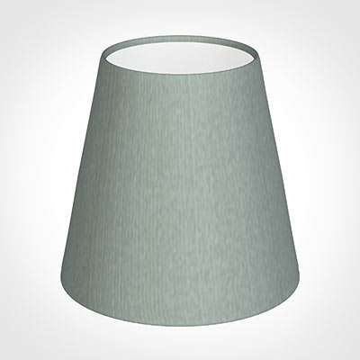 Tapered Candle Shade in Aquamarine Faux Silk