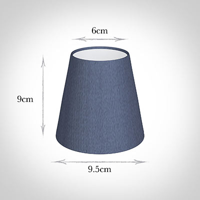 Tapered Candle Shade in Blue Faux Silk