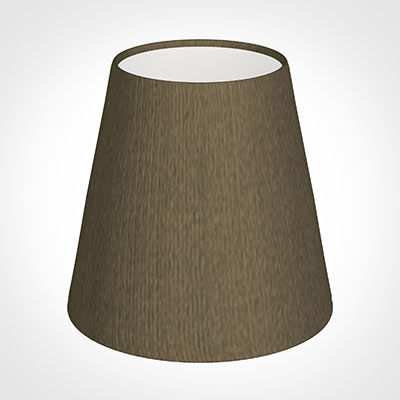 Tapered Candle Shade in Bronze Faux Silk