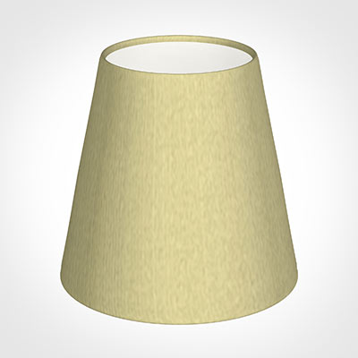 Tapered Candle Shade in Wheat Faux Silk