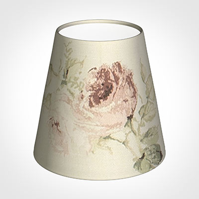 Tapered Candle Shade in Antique Rosanna