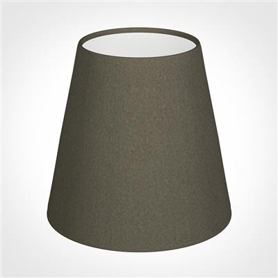 Tapered Candle Shade in Bark Satin