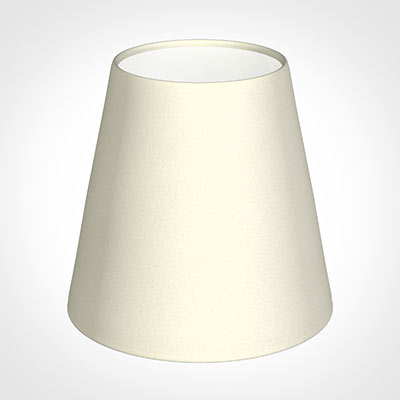 Tapered Candle Shade in Cream Satin