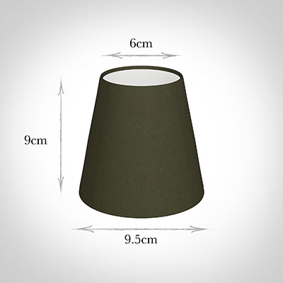 Tapered Candle Shade in Laurel Satin