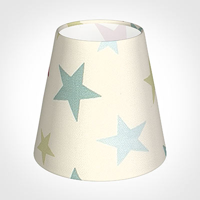 Tapered Candle Shade in Duck Egg Hudson Star(discontinued, only stock shown available)