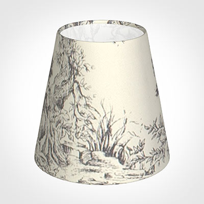 Tapered Candle Shade in Ash Toile de Jouy