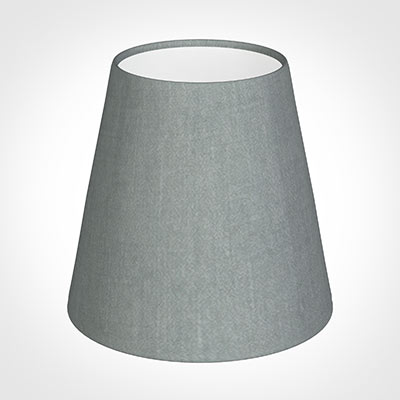 Tapered Candle Shade in Blue Waterford Linen