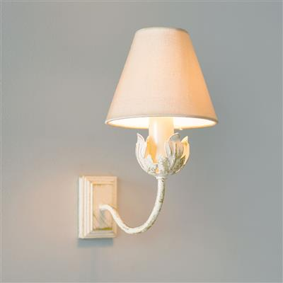 Single Tulip Wall Light in Old Ivory