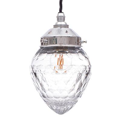 Nickel pendant light cut glass crystal pendant light jim lawrence 3005ni 11g aloadofball Images