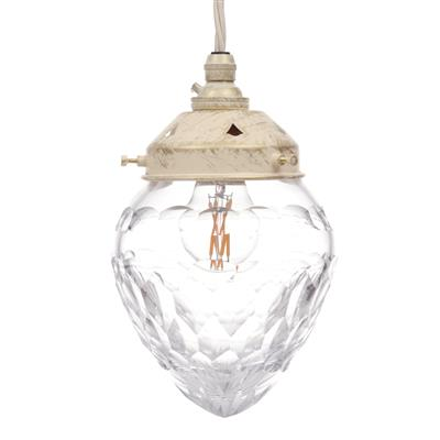 Orfila Crystal Pendant Light in Old Ivory