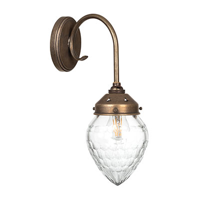 Orfila Wall Light in Antiqued Brass