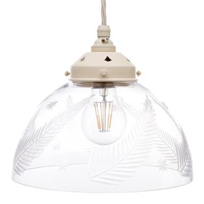Ashurst Cut Glass Pendant Light in Plain Ivory