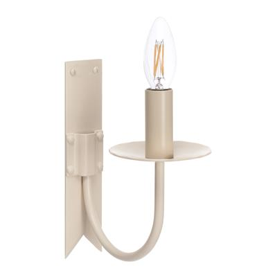 Single Cottage Wall Light in Plain Ivory