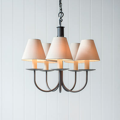 Five Arm Classic Pendant Light in Beeswax