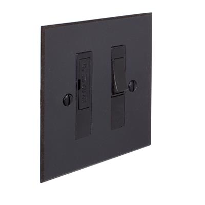 13amp Fused Switch Beeswax Bevelled Plate, Black Insert