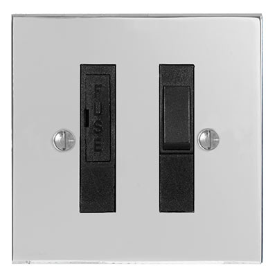 13amp Fused Switch Nickel Bevelled Plate , (discontinued, only stock shown available)