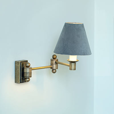 Hinged Brass Wall Lights : Adjustable Brass Wall Light Elegant Hinged Arm Wall Light Jim Lawrence