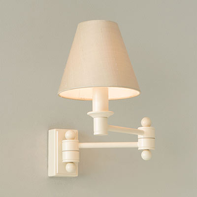 Hanson Wall Light in Plain Ivory