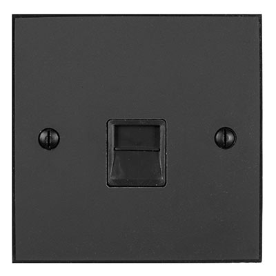 Master Telephone Socket Beeswax Bevelled Plate, Black Insert