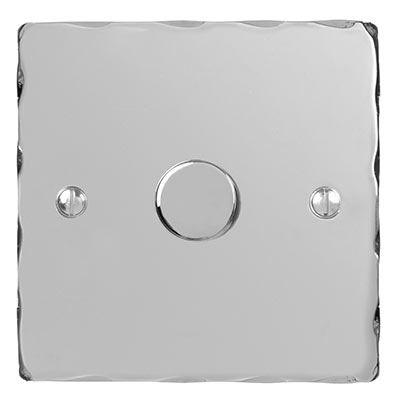1 Gang Rotary Dimmer Nickel Hammered Plate