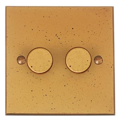 2 gang rotary dimmer switch 2 way bevelled plate jim lawrence. Black Bedroom Furniture Sets. Home Design Ideas