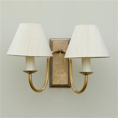 Double Gosford Wall Light in Antiqued Brass