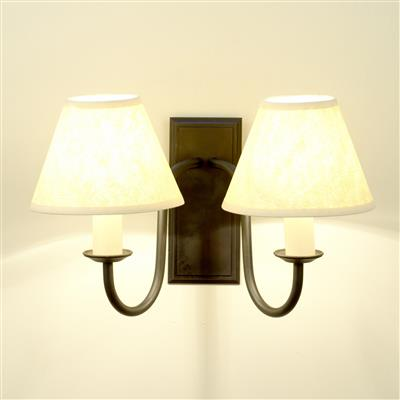 Double Gosford Wall Light in Matt Black