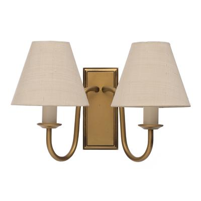 Double Gosford Wall Light in Old Gold