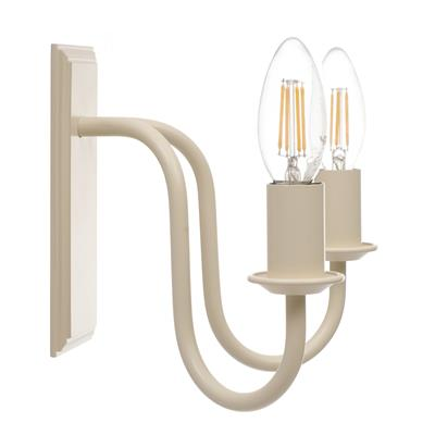 Double Gosford Wall Light in Plain Ivory