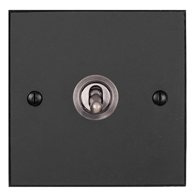 1 Gang Steel Dolly Switch Beeswax Bevelled Plate