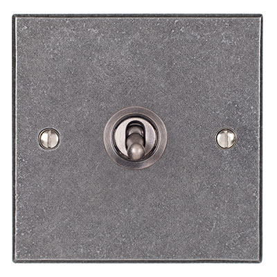 1 Gang Steel Dolly Switch Polished Bevelled Plate