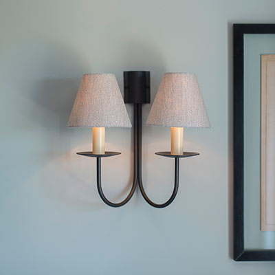 Double Classic Wall Light in Beeswax