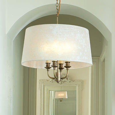 Ickworth Pendant Light in Antiqued Brass