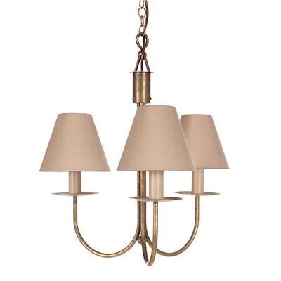 Classic lighting brass 3 arm pendant light jim lawrence 308ab 11g aloadofball Choice Image