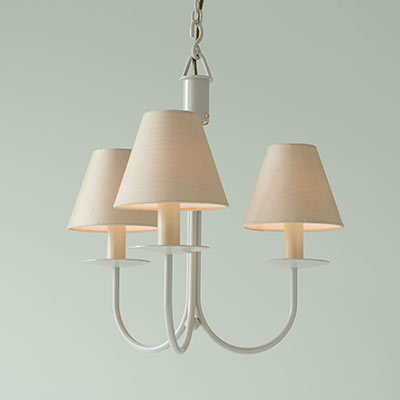 Three Arm Classic Pendant Light in Clay