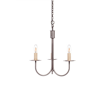 Three Arm Classic Pendant Light in Polished
