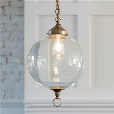 Bloomsbury Pendant Light in Antiqued Brass