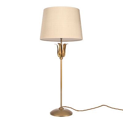 Tulip Lamp in Old Gold