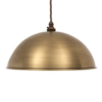 Pantry Light in Antiqued Brass (inside Ivory)
