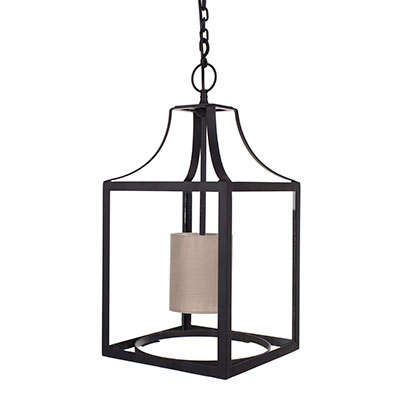Wilton Lantern in Matt Black