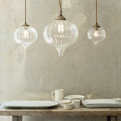 Ava Glass Pendant Light in Antiqued Brass