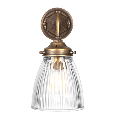 Fisher Wall Light in Antiqued Brass